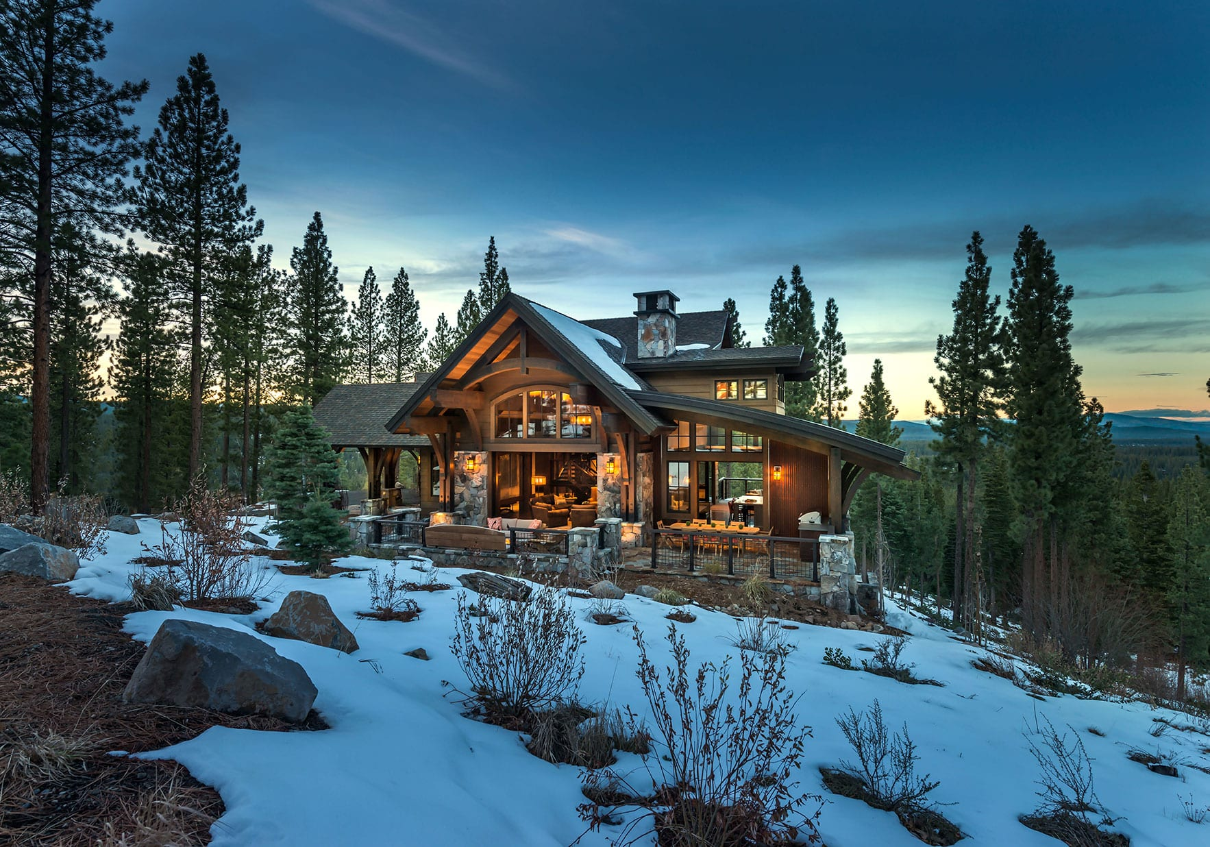 Intricate detailing knocks this martis camp house out of for Tahoe architects
